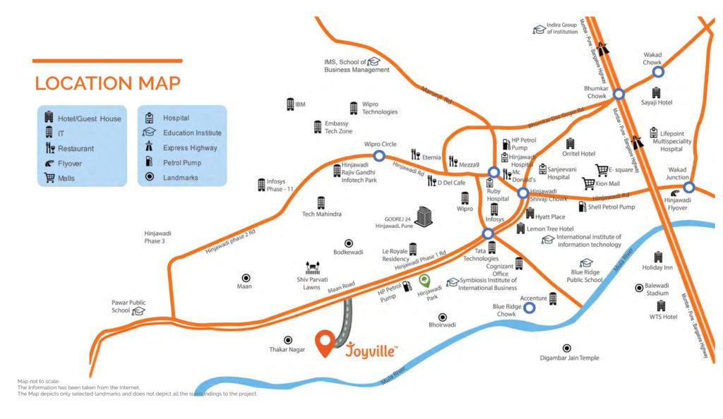 Joyville Hinjewadi Location Map
