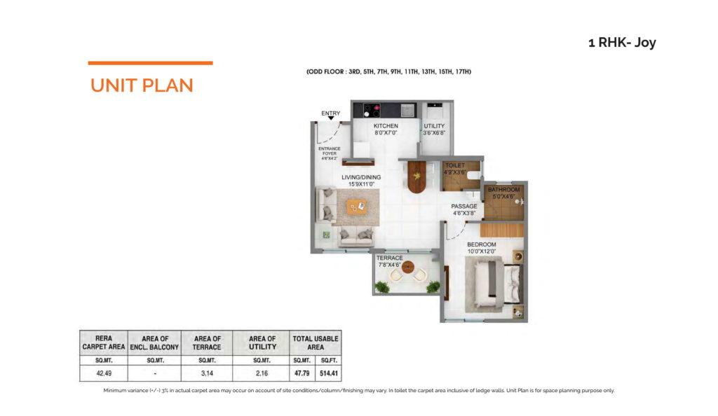 Joyville Hinjewadi Floor plan