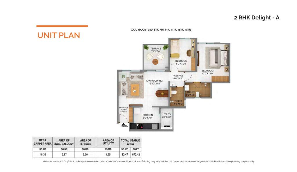 Shapoor JipallonjiJoyville Hinjewadi Floor plan